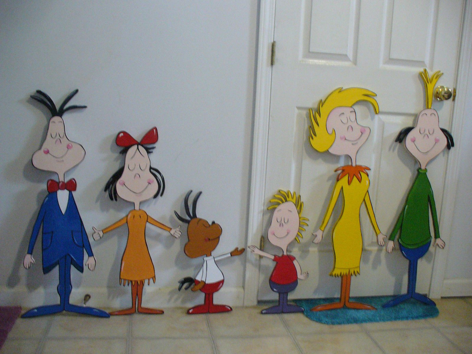 9-pc.SET HAND MADE & PAINTED WHOVILLE ARCH & WHOVILLE ...