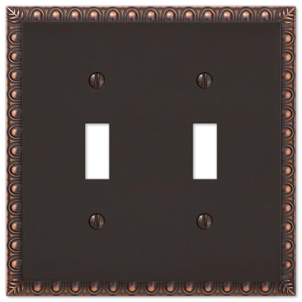 Amerelle Renaissance 2 Toggle Light Switch Wall Plate