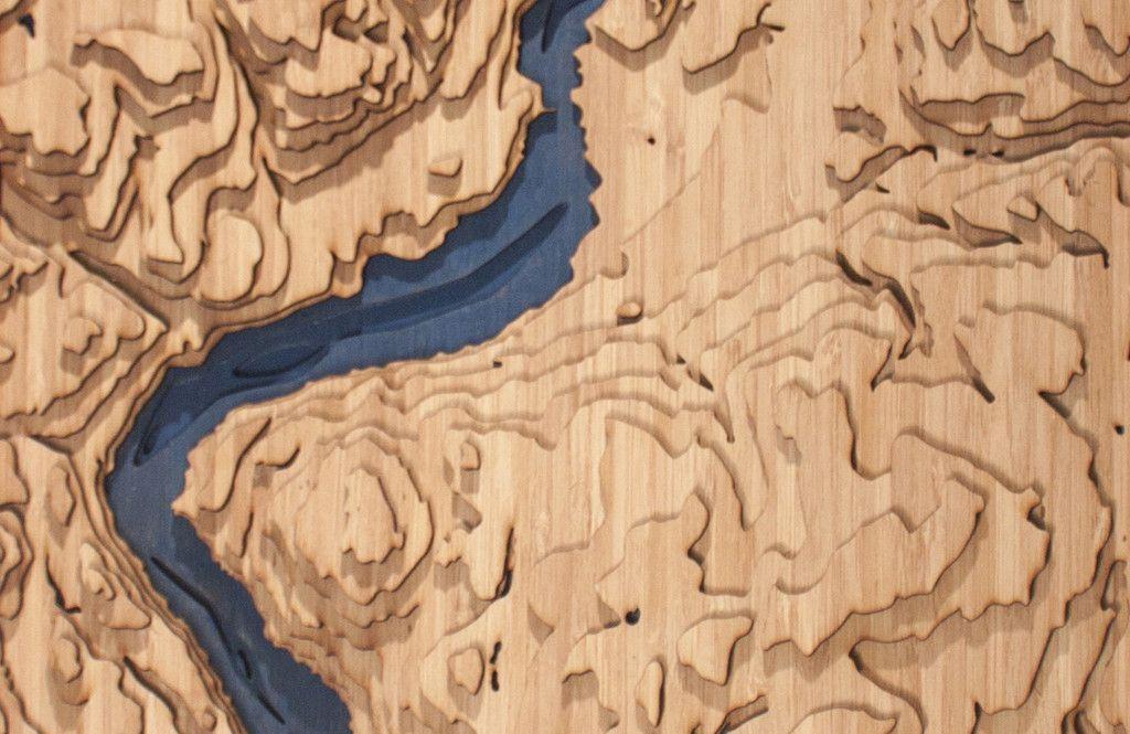 3d Laser Cut Topographic Map Of Okanagan Lake British Columbia British Columbia Lakes And