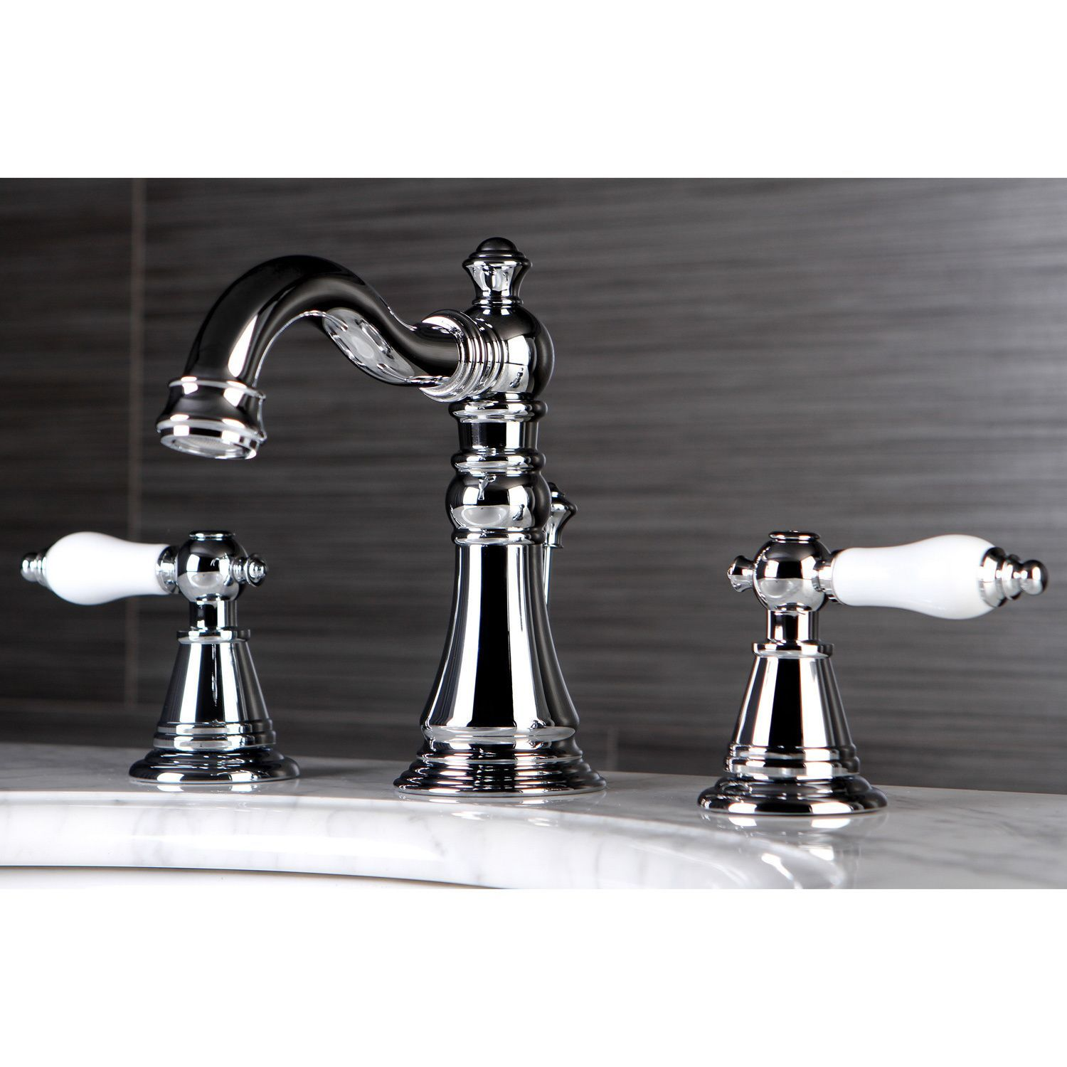 Classic Widespread Chrome Bathroom Faucet - Overstock Shopping ...