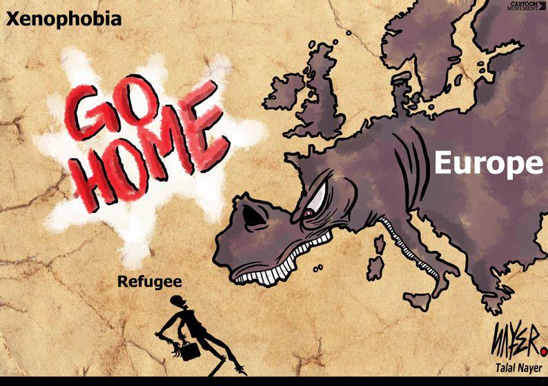 The face of xenophobia. Today's cartoon by Talal Nayer: http://www.cartoonmovement.com/cartoon/27475