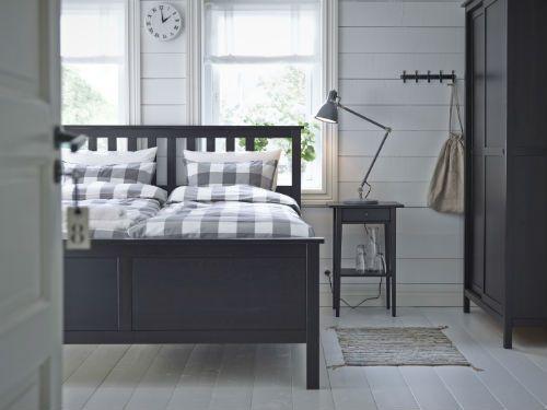 Hemnes Bed Frame Black Brown Lonset King Ikea Bedroom