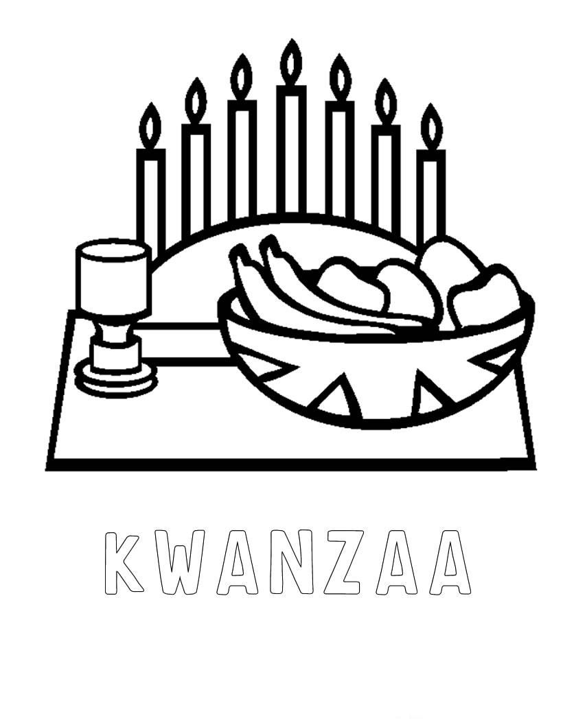 Kwanzaa Coloring Page 022511 Vector Clip Art Free Clipart