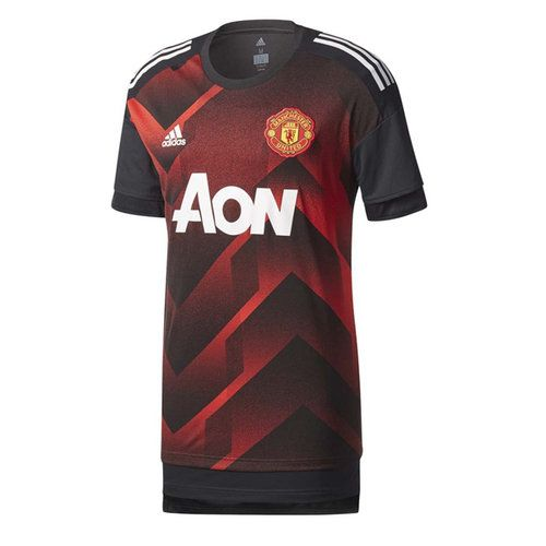 4554a6ad5 adidas Men s Manchester United 17 18 Home Pre Game Jersey Real Red ...