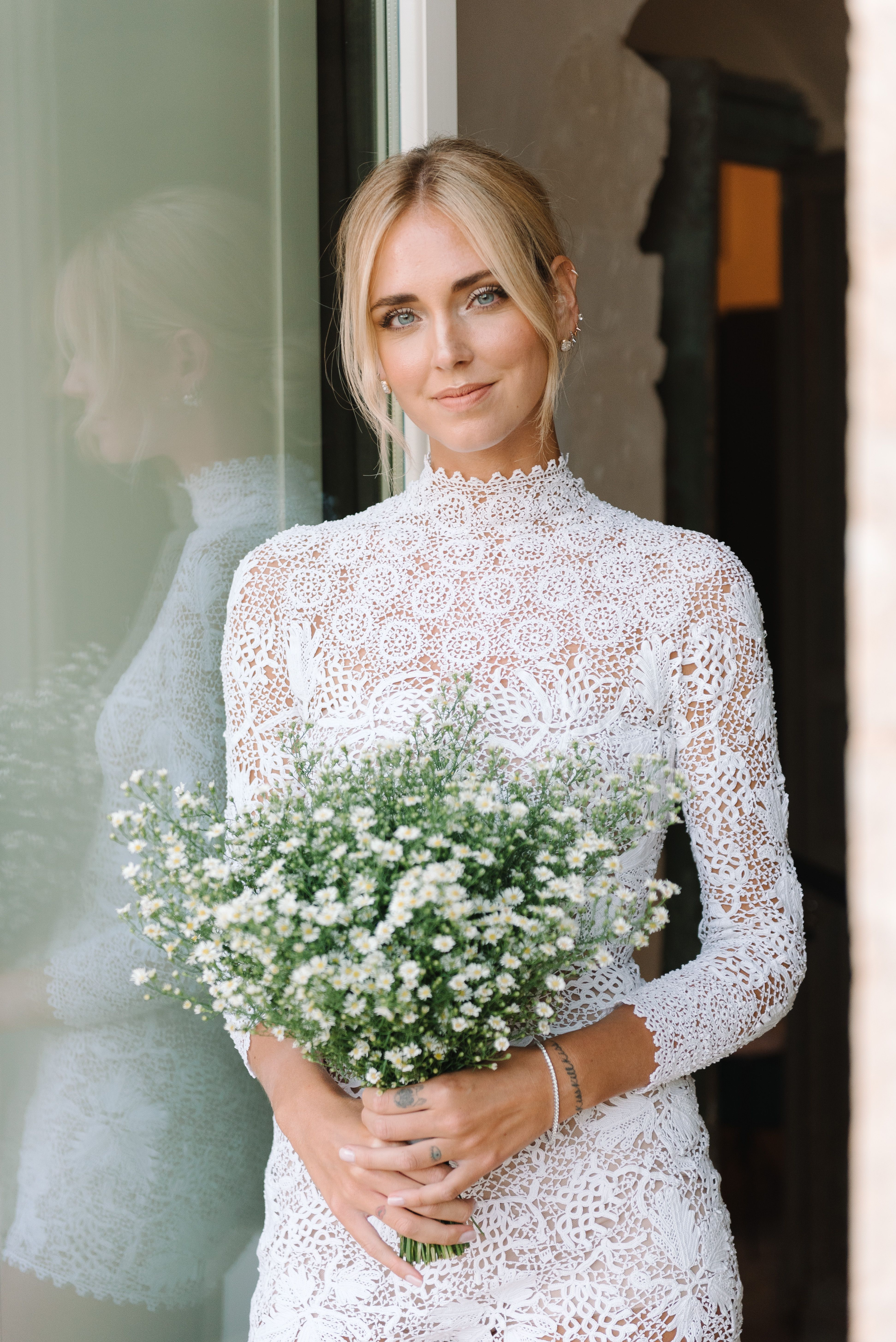 Congratulations To The Beautiful Bride And Lancôme Muse Chiara Ferragni What A Spectacular Wedding Bridal Makeup Look By Lancome Featuring L Absolu Rouge