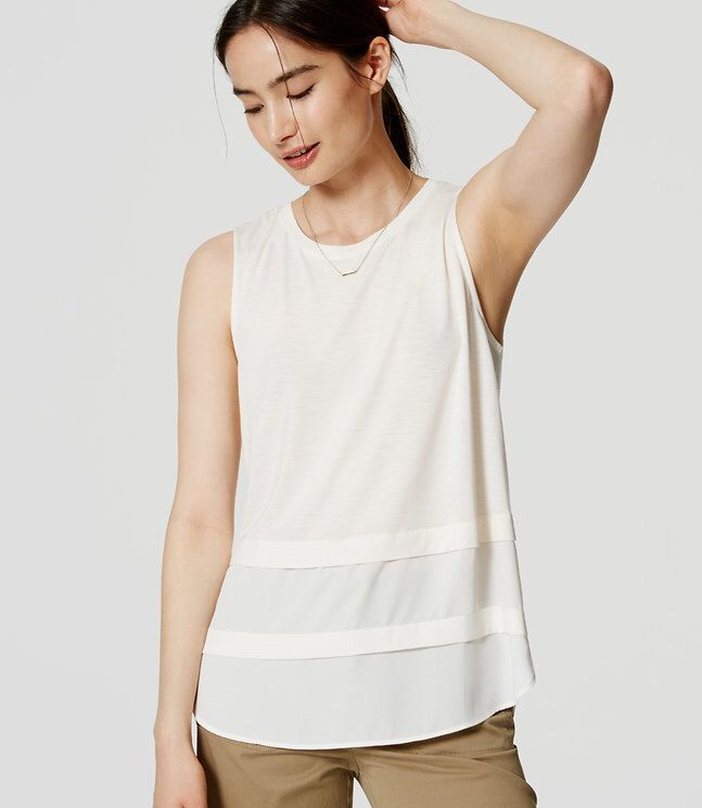 Loft white tank. Casual business wear!