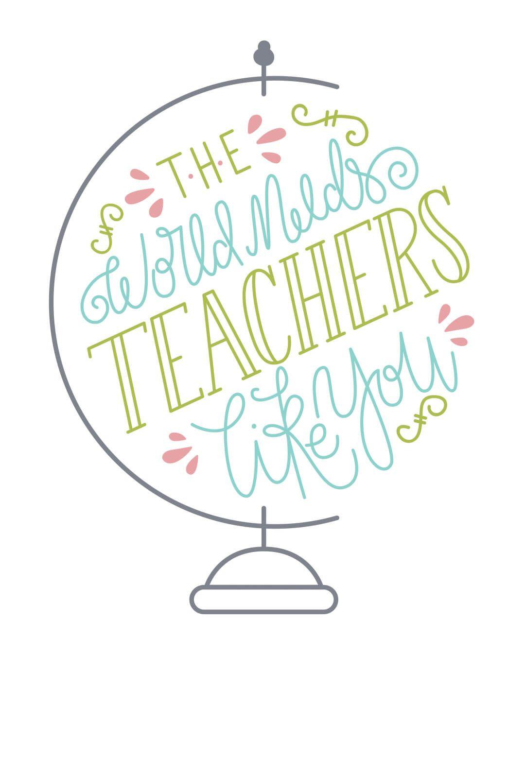 Worlds Best Teacher Thank You Card For Teacher Free Teachers