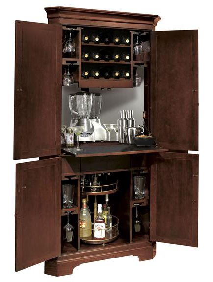 Norcross Corner Bar and Wine Cabinet - Open | Home Bar Furnishings ...
