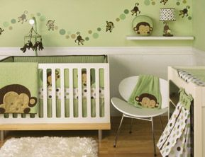 This Is So Close To What I Am Thinking For A Boys Monkey Room Except With The Blue Grey Walls And Tree Painted In Corner Monkeys On Them