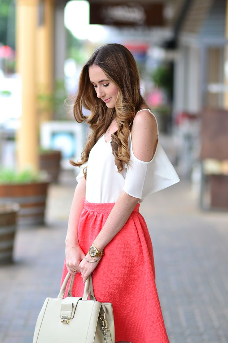 716bf4d815723 Cold-Shoulder top and Midi skirt - Arum Lilea