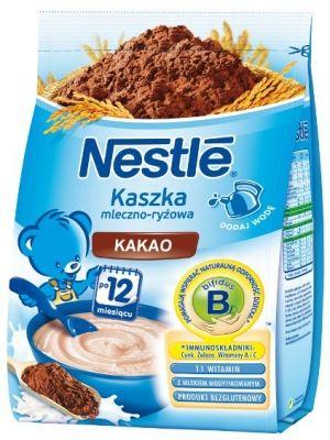 Charakterystyka produktu: - bezglutenowy produkt zbożowy, kompozycja szlachetnej odmiany ryżu i mleka modyfikowanego następnego - zawiera dodatek kakao - jest wzbogacona w 12 witamin oraz składniki mineralne