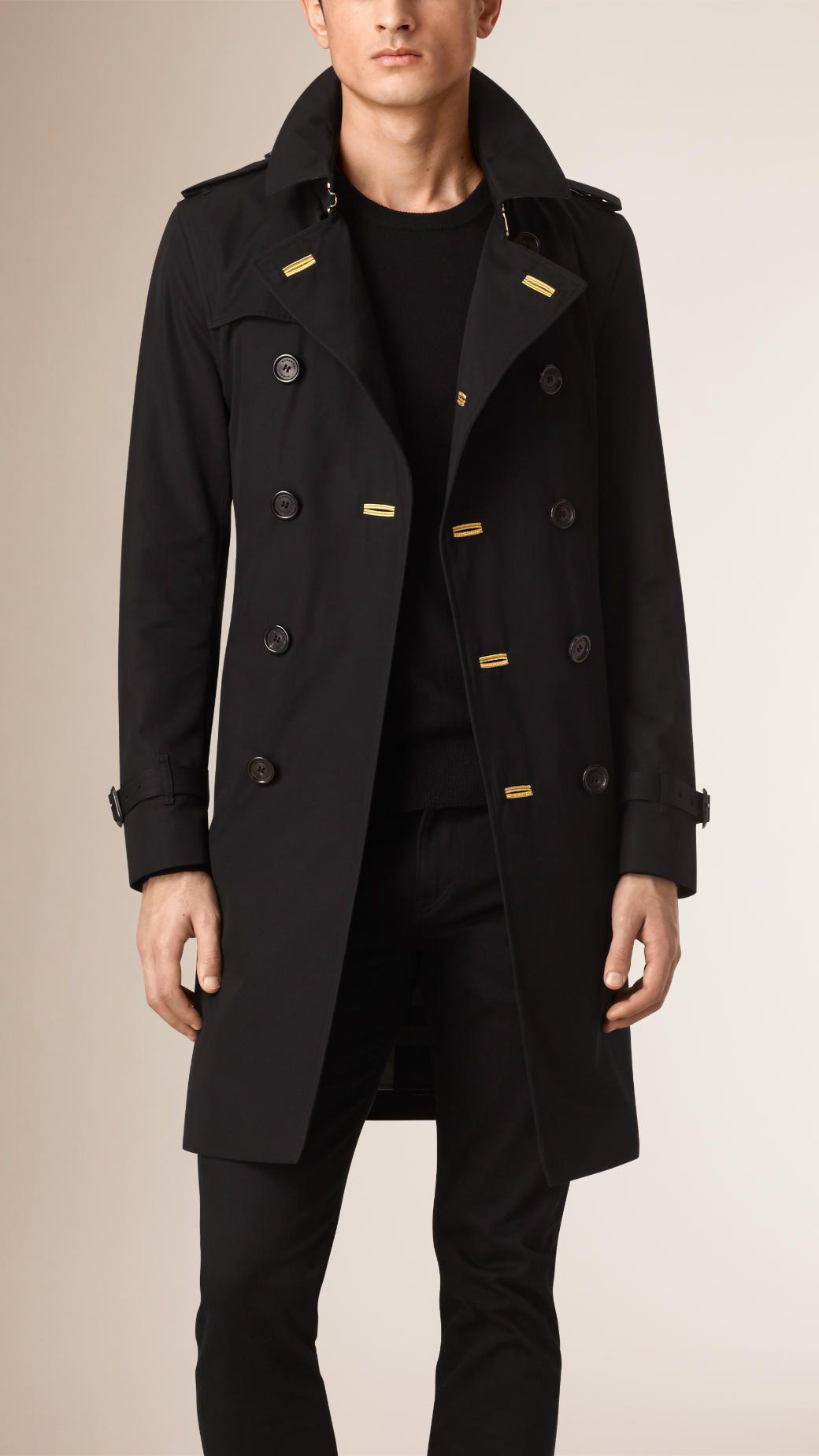 93349f2b86f0 The Chelsea – Regimental Gabardine Trench Coat Black