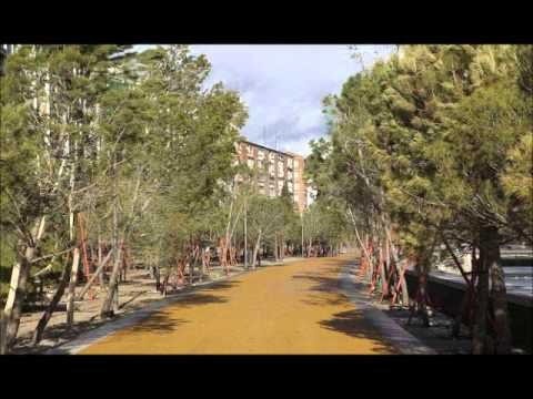 Madrid Rio, Manzanares River Linear Park - YouTube