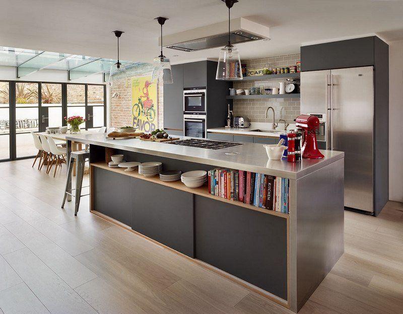 Cuisine Ouverte Sur Salon En  Ides Open Space Superbes