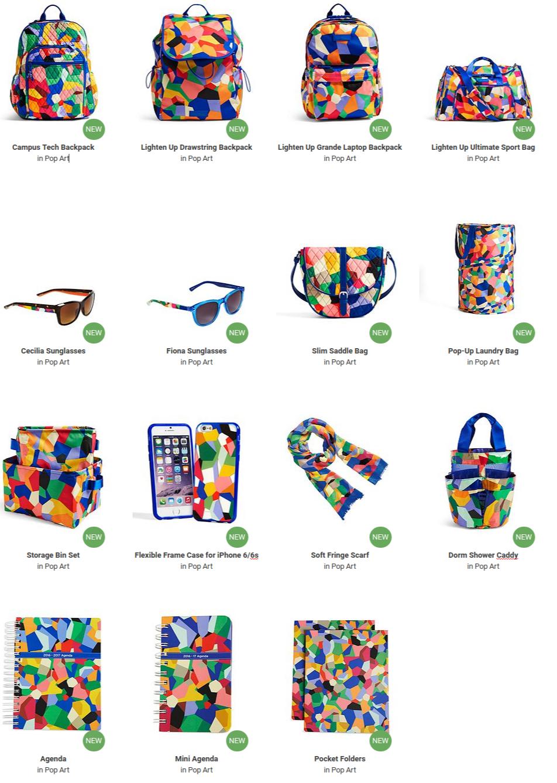 4561ac8f4 Pop Art Collection - Vera Bradley | Best Backpacks for Kids | Kids ...