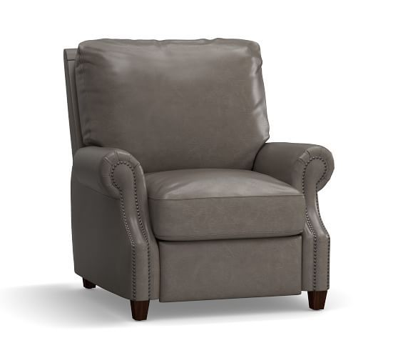 James Leather Recliner Pottery Barn Recliner Tan