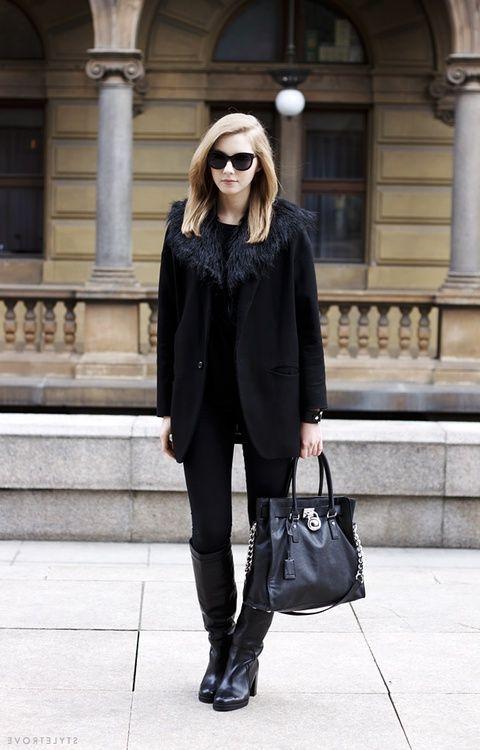 Alle schwarzen Outfits für Frauen | Outfit, Frauen outfits