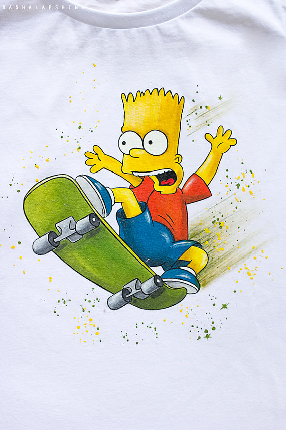 909e61bdf0 Hand painted The Simpsons T-shirt
