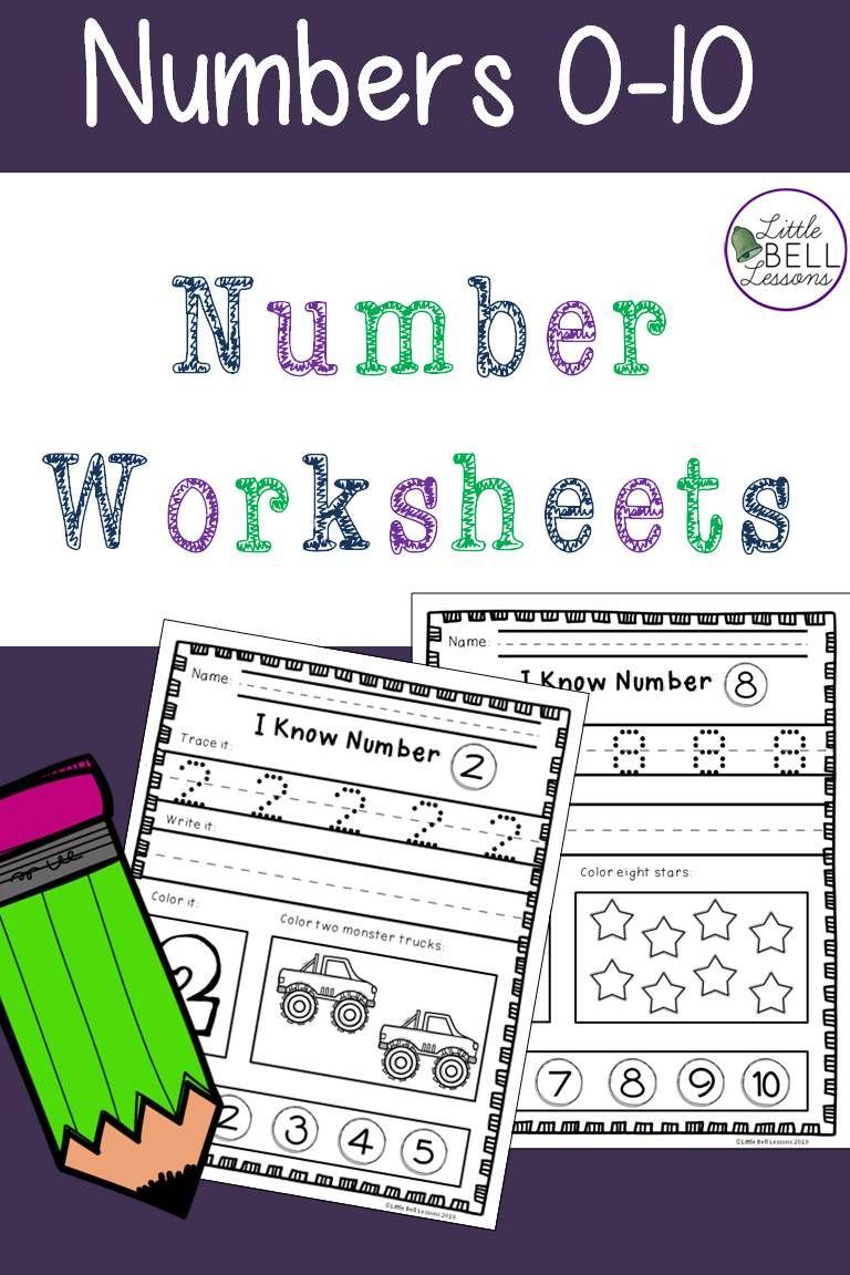Number Worksheets Numbers 0 10 For Preschool And Kindergarten Number Worksheets Numbers Preschool Number Activities Preschool [ 1152 x 768 Pixel ]