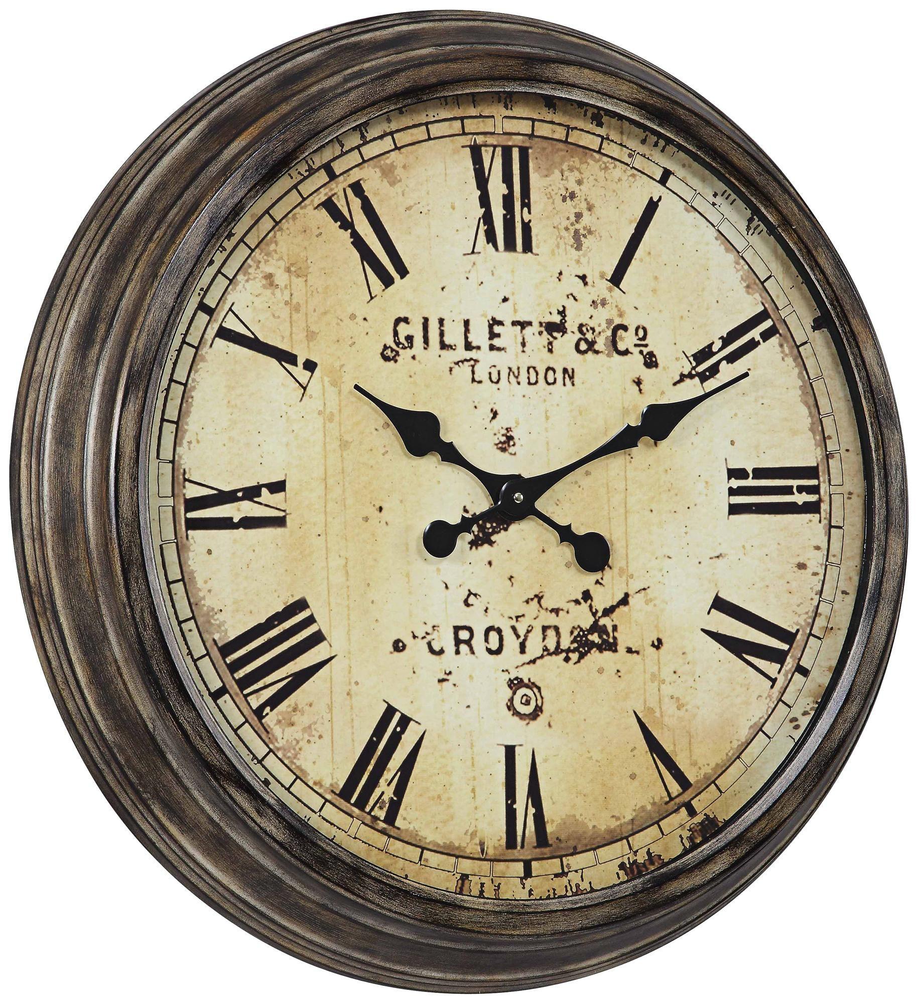 Cooper Classics Frye 27 1 2 Wide Aged Wall Clock X6987 Lamps Plus Oversized Wall Clock Wall Clock Large Wall Clock