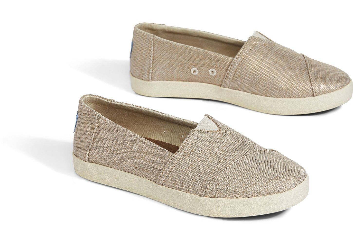 eb0faab8ea30 TOMS Rose Gold Metallic Woven Women s Avalon Slip by TOMS in 2018 ...