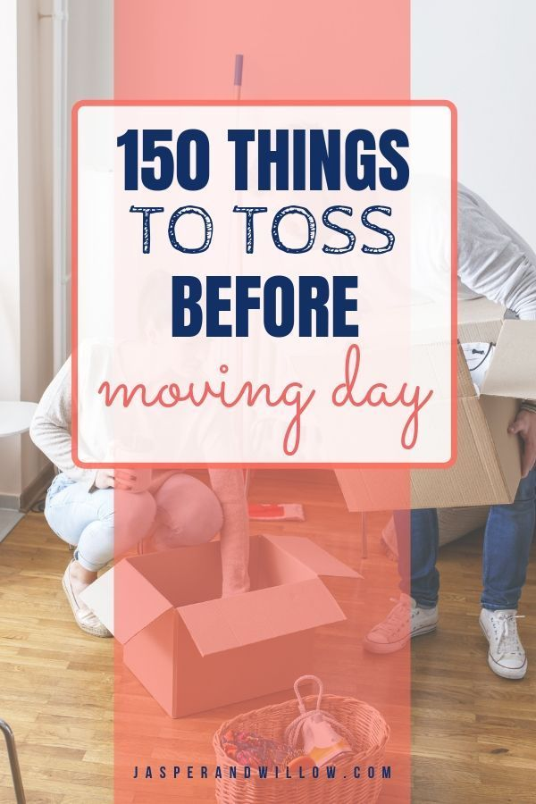 Learn how to declutter before moving with these easy and simple tips and ideas. FREE printable declutter checklist to get your house ready for moving day. #declutteringtips #springcleaning #movingtips