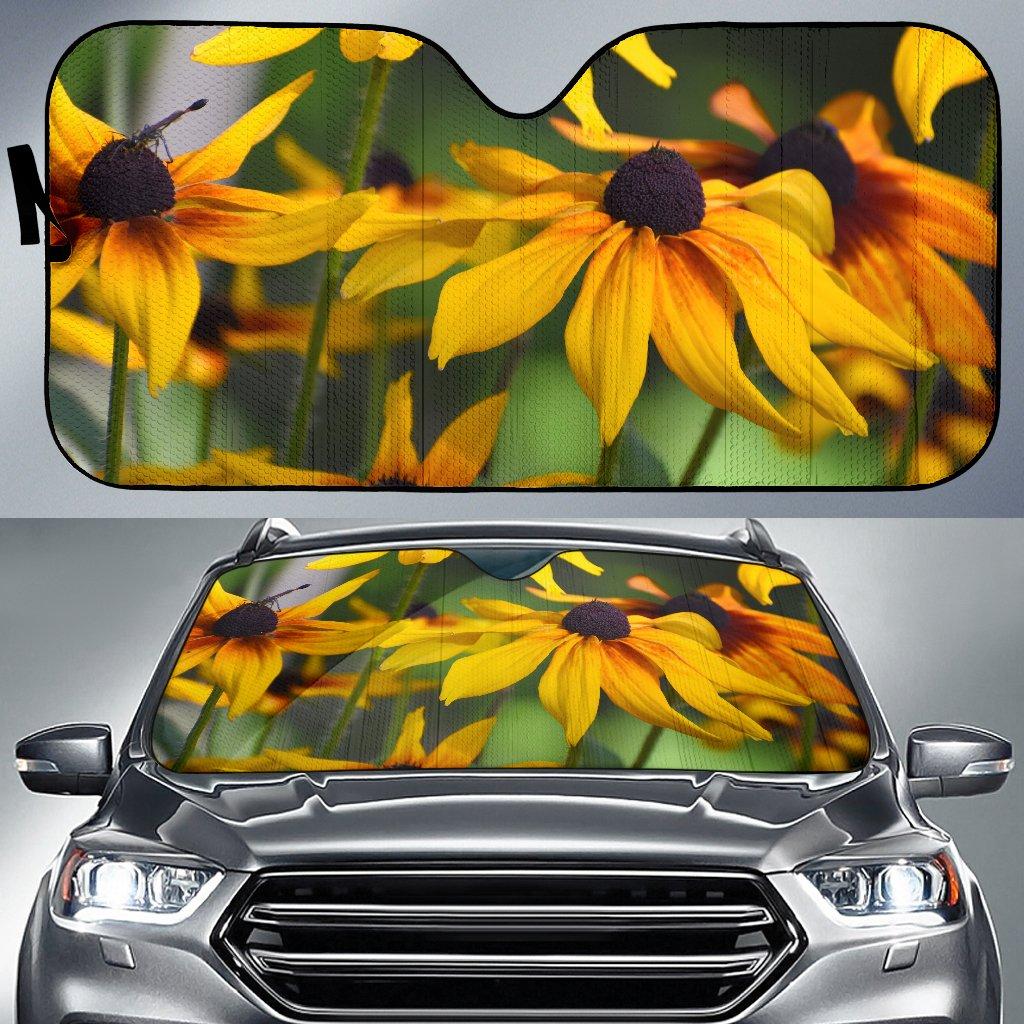 Auto Sun Shade Yellow Daisies Design All of our Auto Sun