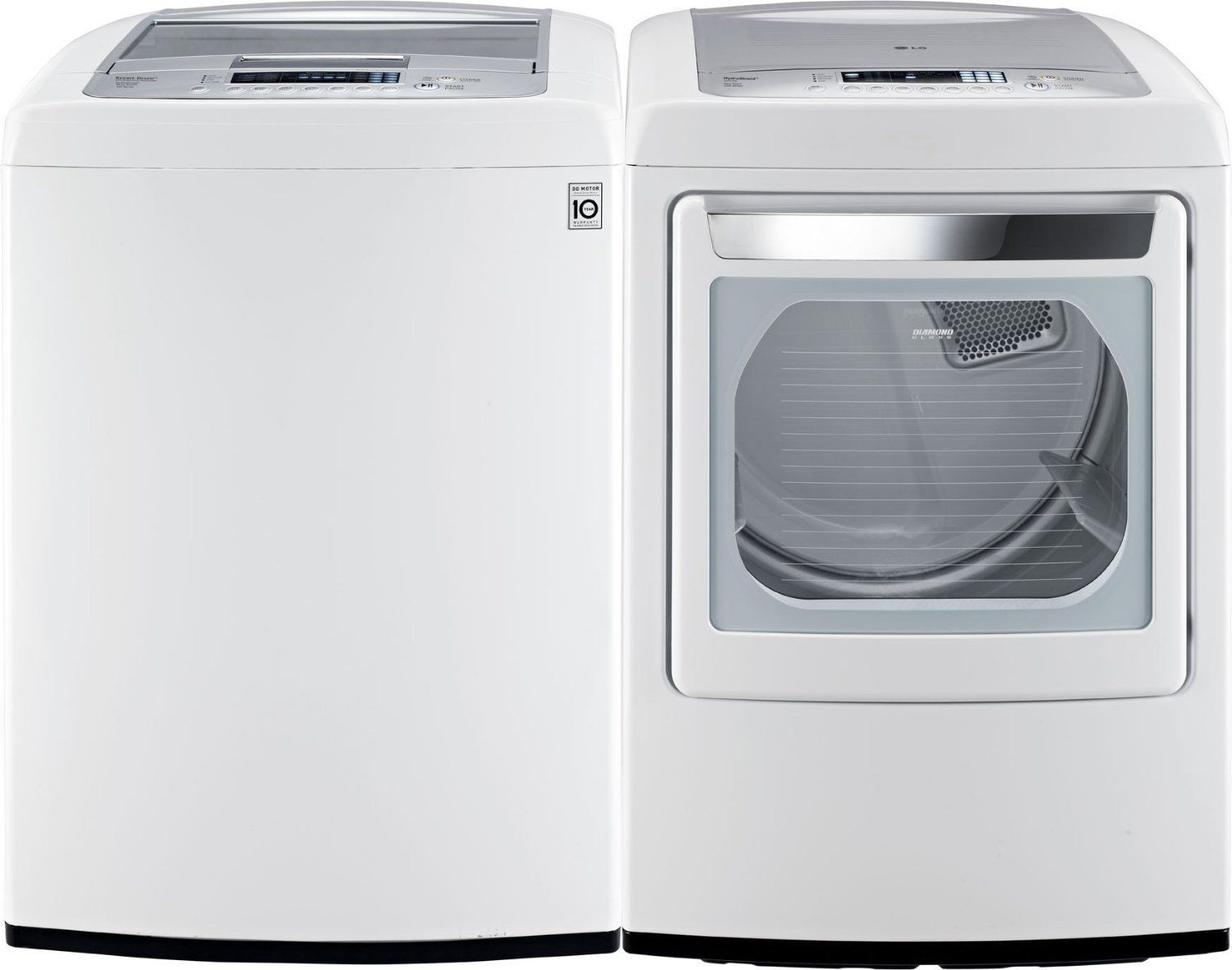 Amazon Com Lg Pair Buy Front Control Laundry Pair With Waveforce Technology With Electric Dryer Wt1201cw Dley1 Laundry Pair Electric Dryers Washer And Dryer
