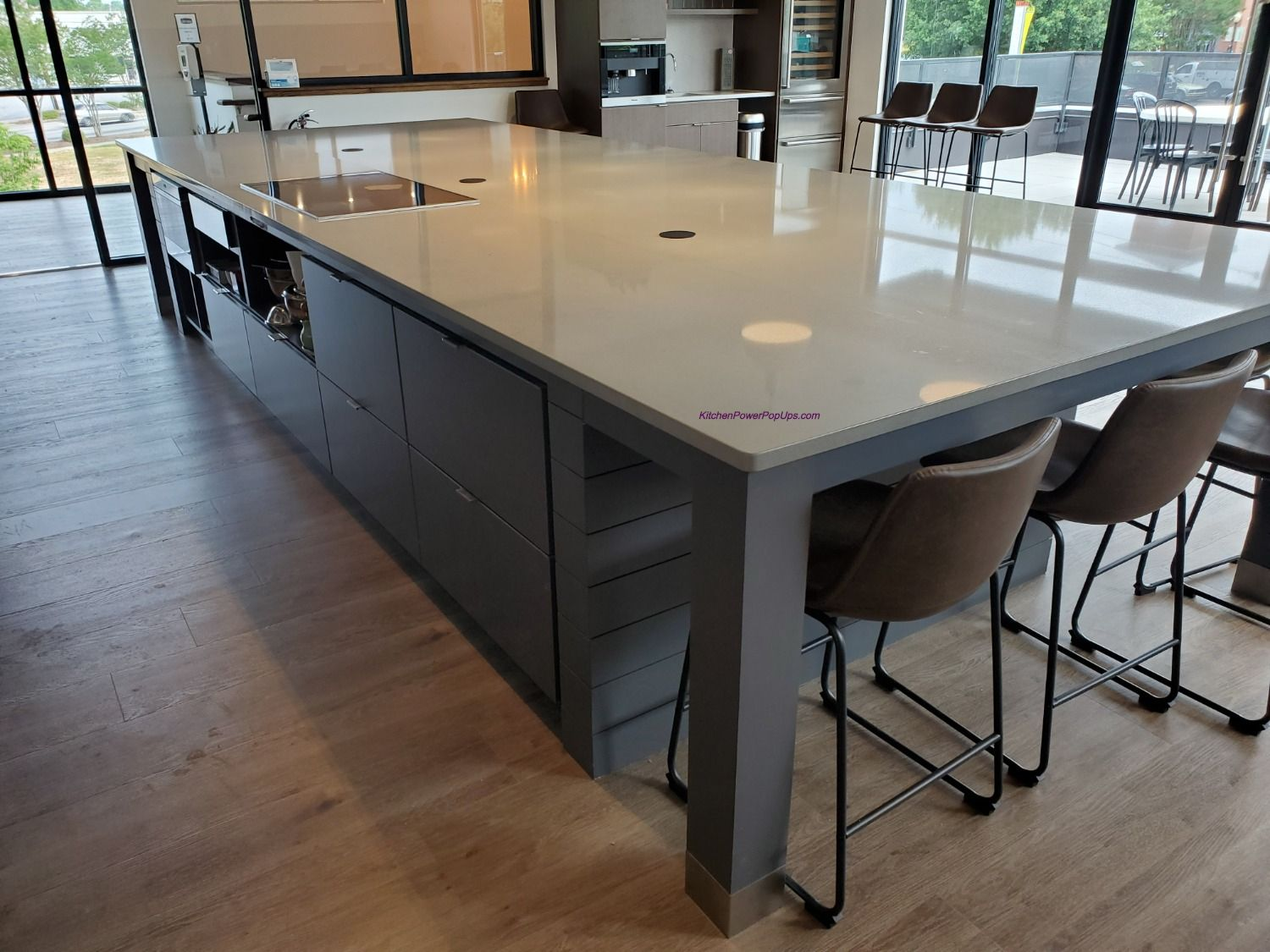 Countertop 2 Sided Spill Proof Pop Up 20a Outlet Flush Mount Black Countertops Huge Kitchen Modern Farmhouse Kitchens