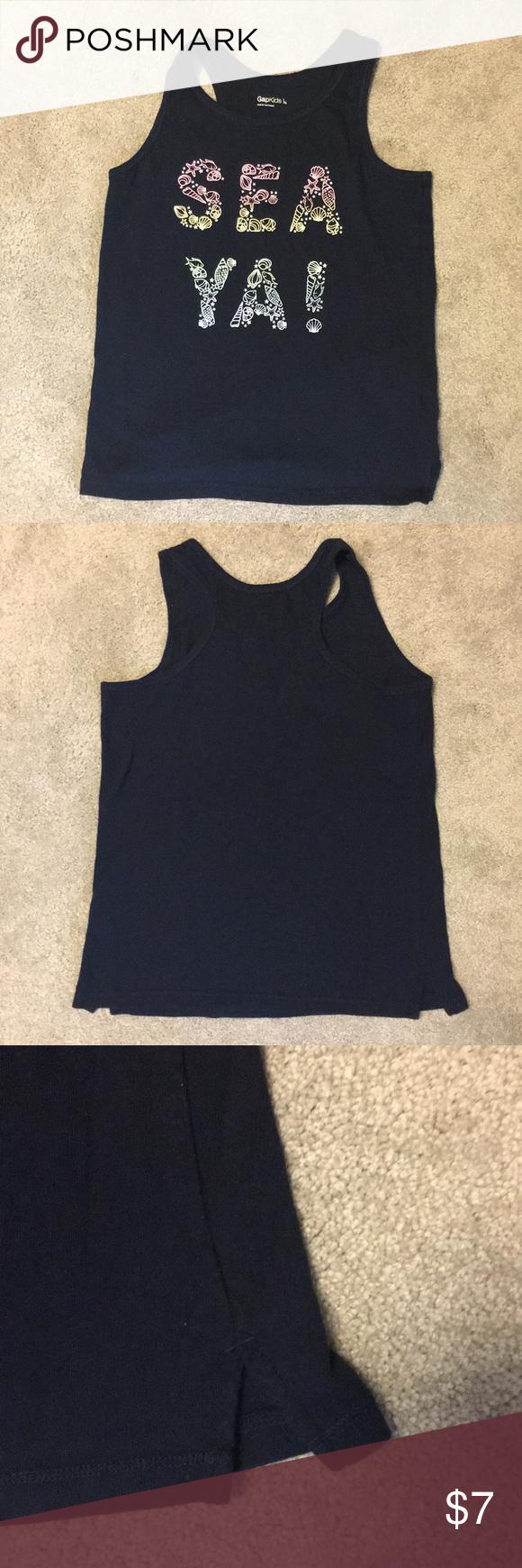 New Kids Gap Size L Girls Tank Tops Shirts White
