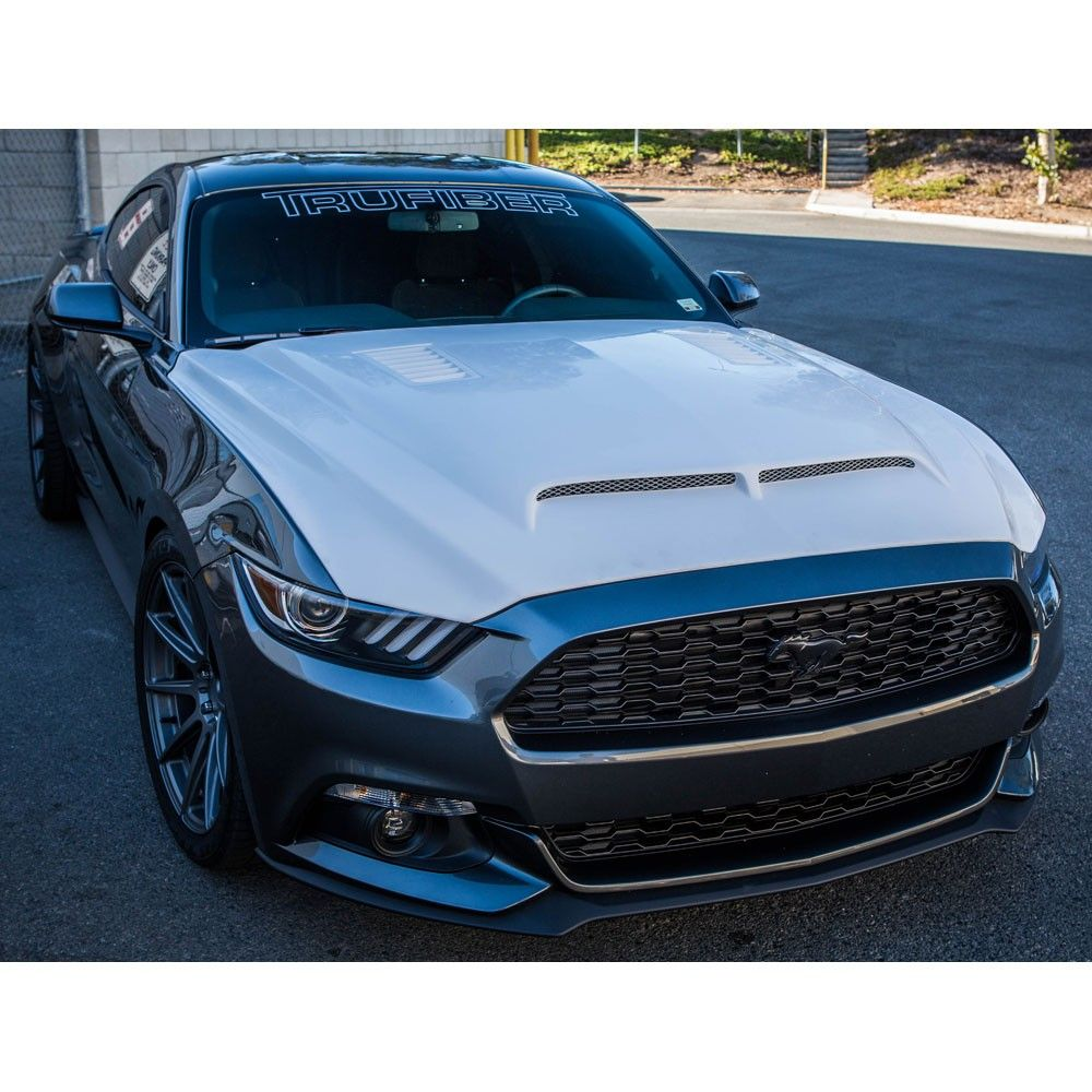 Buy a trufiber fiberglass ram air hood for your ecoboost or gt mustang from cj pony parts today this lightweight fiberglass hood comes with the bolts