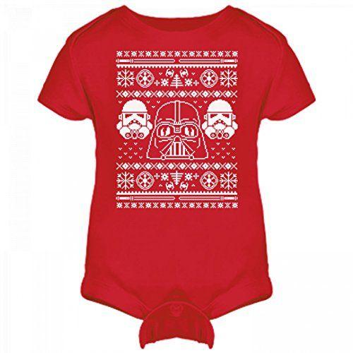 dark side of the crib infant rabbit skins lap shoulder creeper ugly christmas sweater