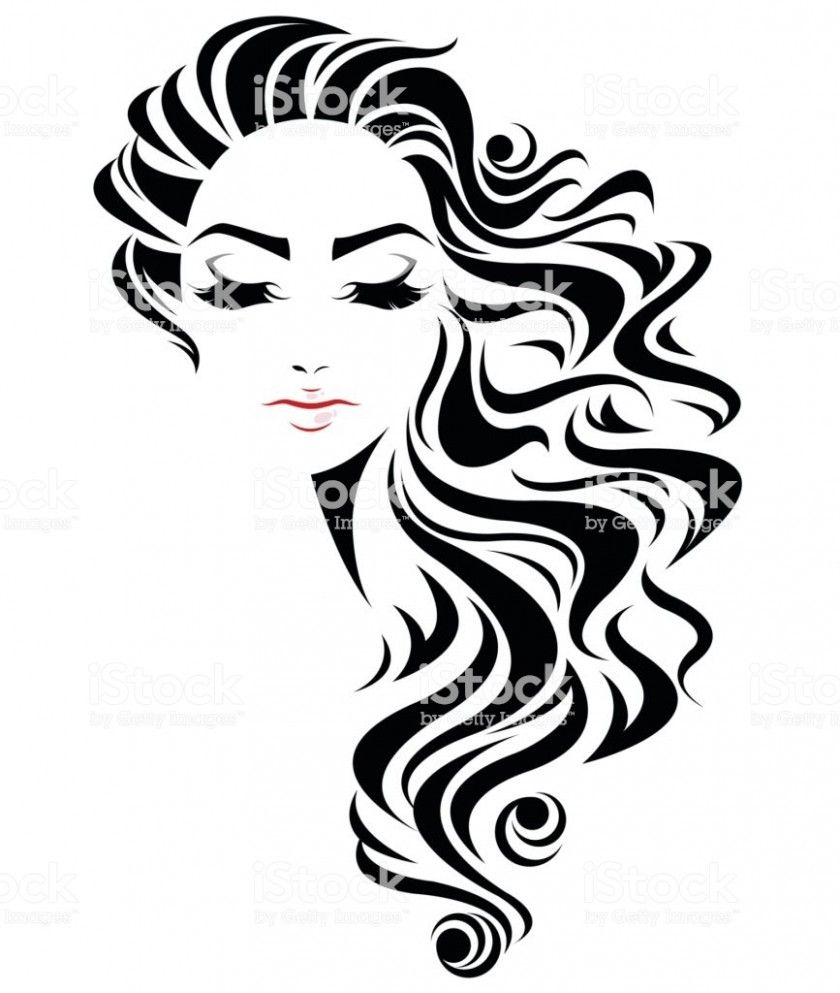 Female Hairstyle Clipart In 2020 Word Pictures Art Hair Clipart Hair Sketch