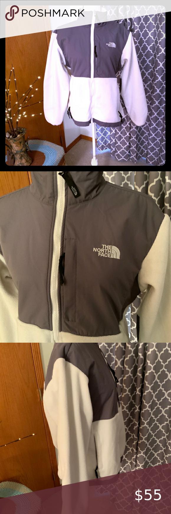 Womens North Face Jacket Size Xl Gray White North Face Jacket Womens North Face Women North Face Jacket [ 1740 x 580 Pixel ]