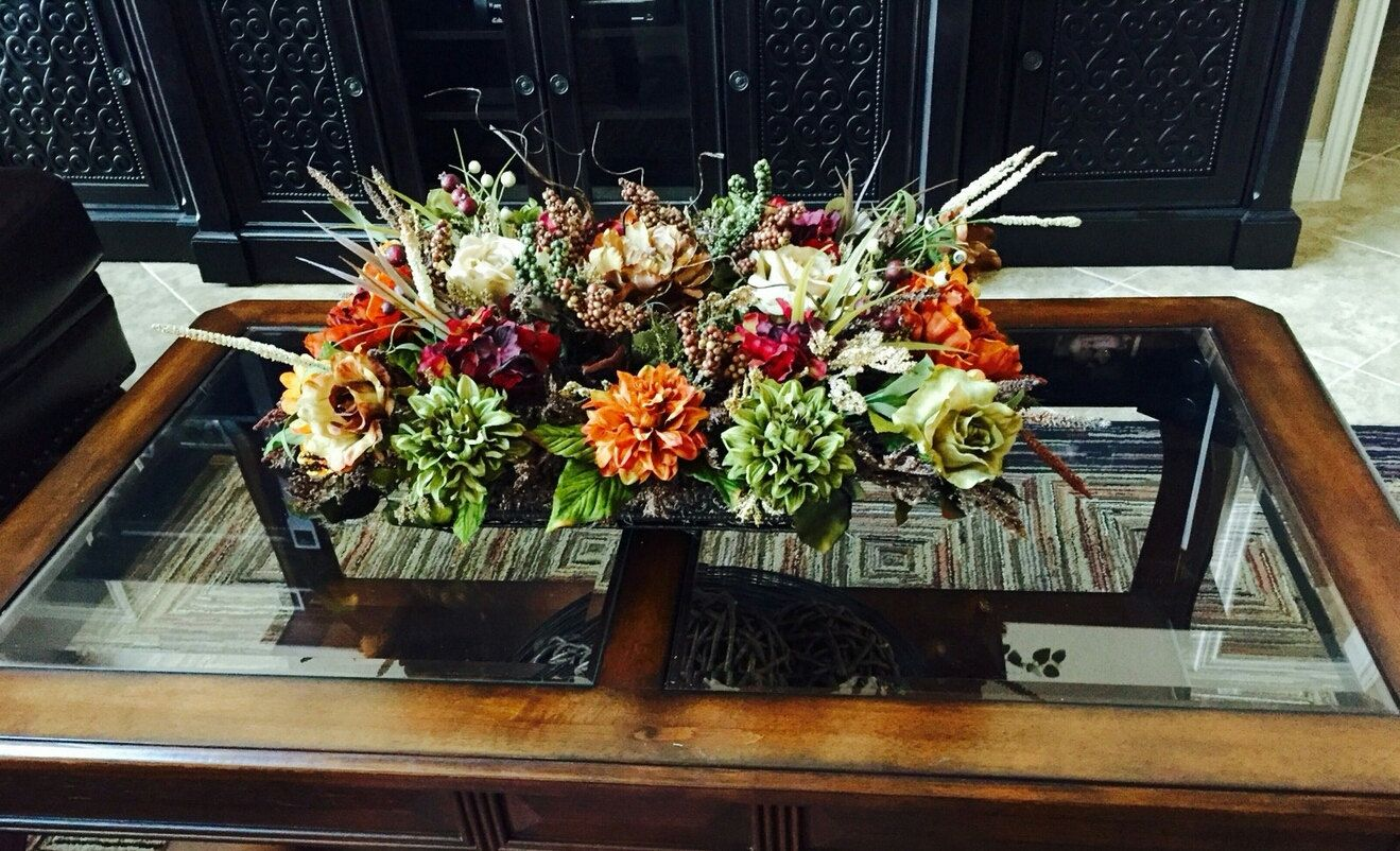 Living Room Centerpieces floral arrangement,shipping included elegant tuscan table