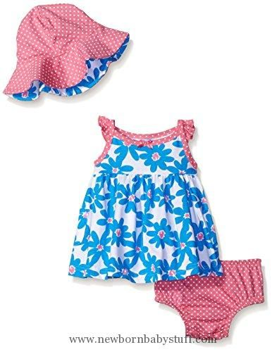 481908166722 Baby Girl Clothes Gerber Baby Three-Piece Sundress