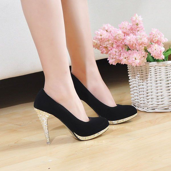 Cant Walk Away Heels: Cream (With images) | Black pumps