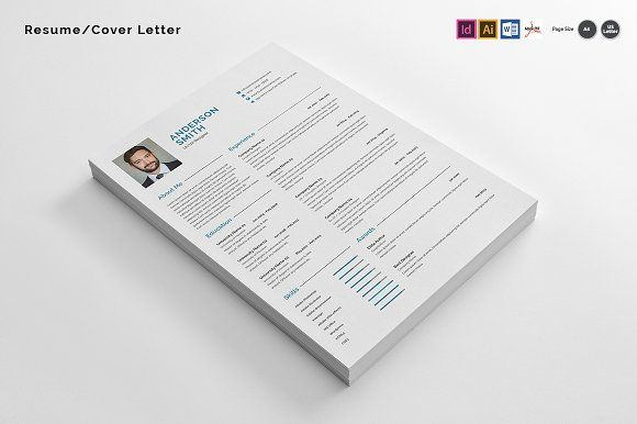 Resume/Cover Letter by azadcsstune on @creativemarket Resumes - CV - it job cover letter