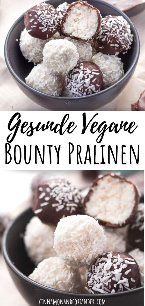 Vegane Kokos Pralinen à la Bounty & Raffaello | Zuckerfrei, Paleo & Vegan #vegan