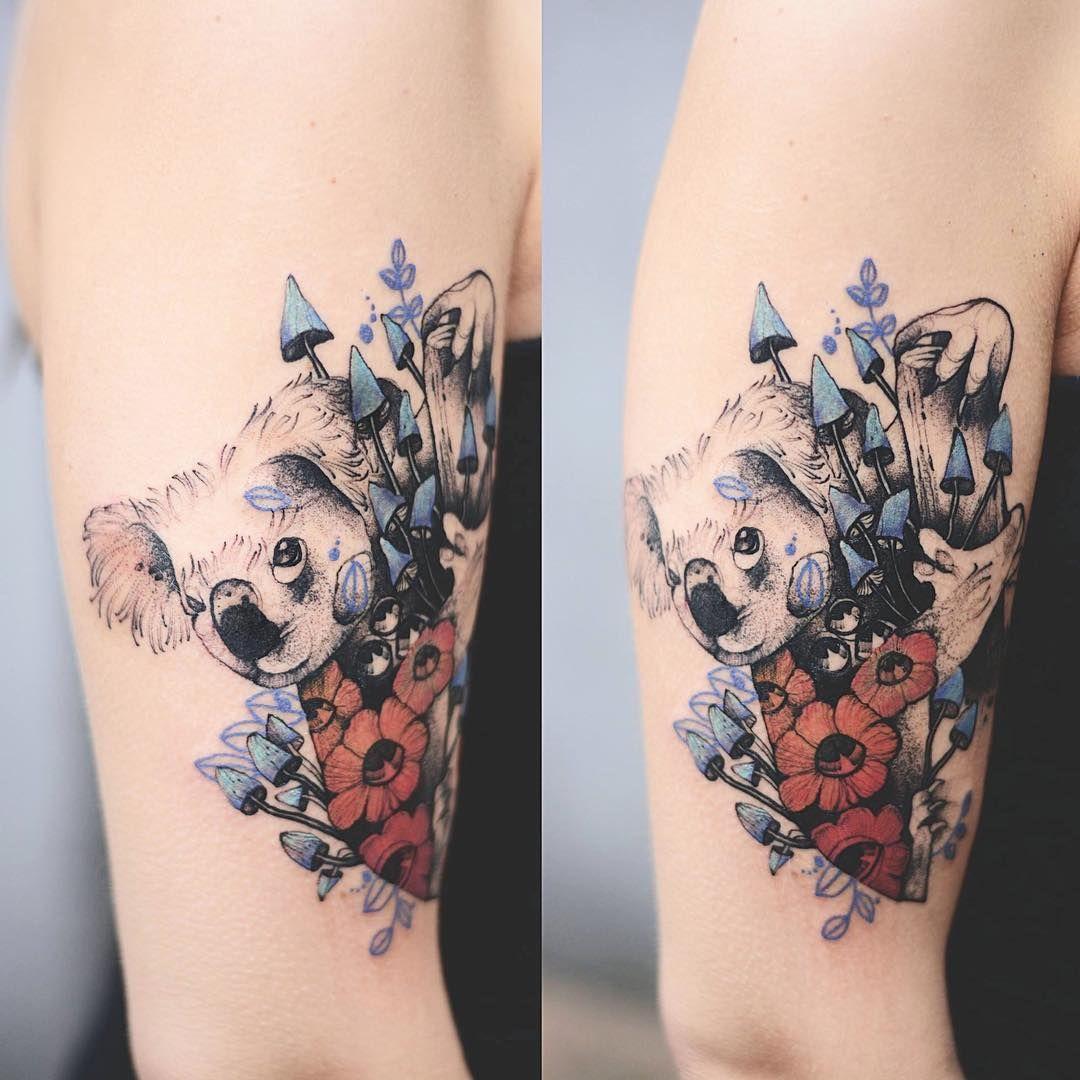 Koala Bear Tattoo Tatuaz Tattoowork Project Design Ink