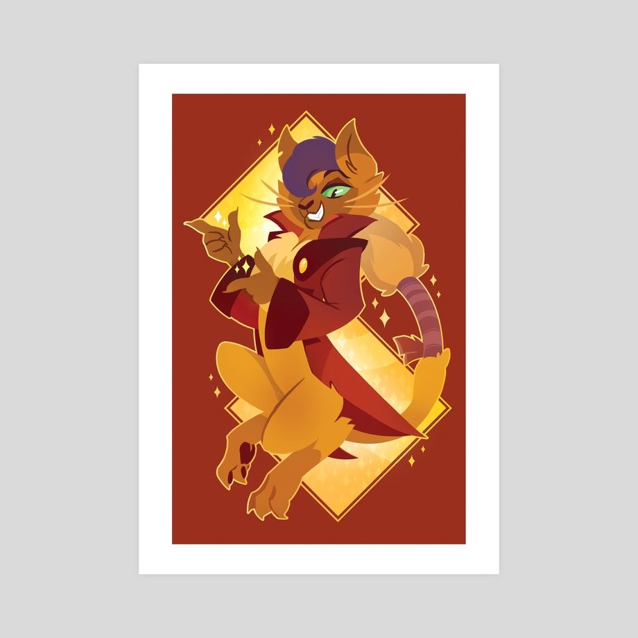 This is a gallery-quality giclèe art print on 100% cotton rag archival paper, printed with archival inks.