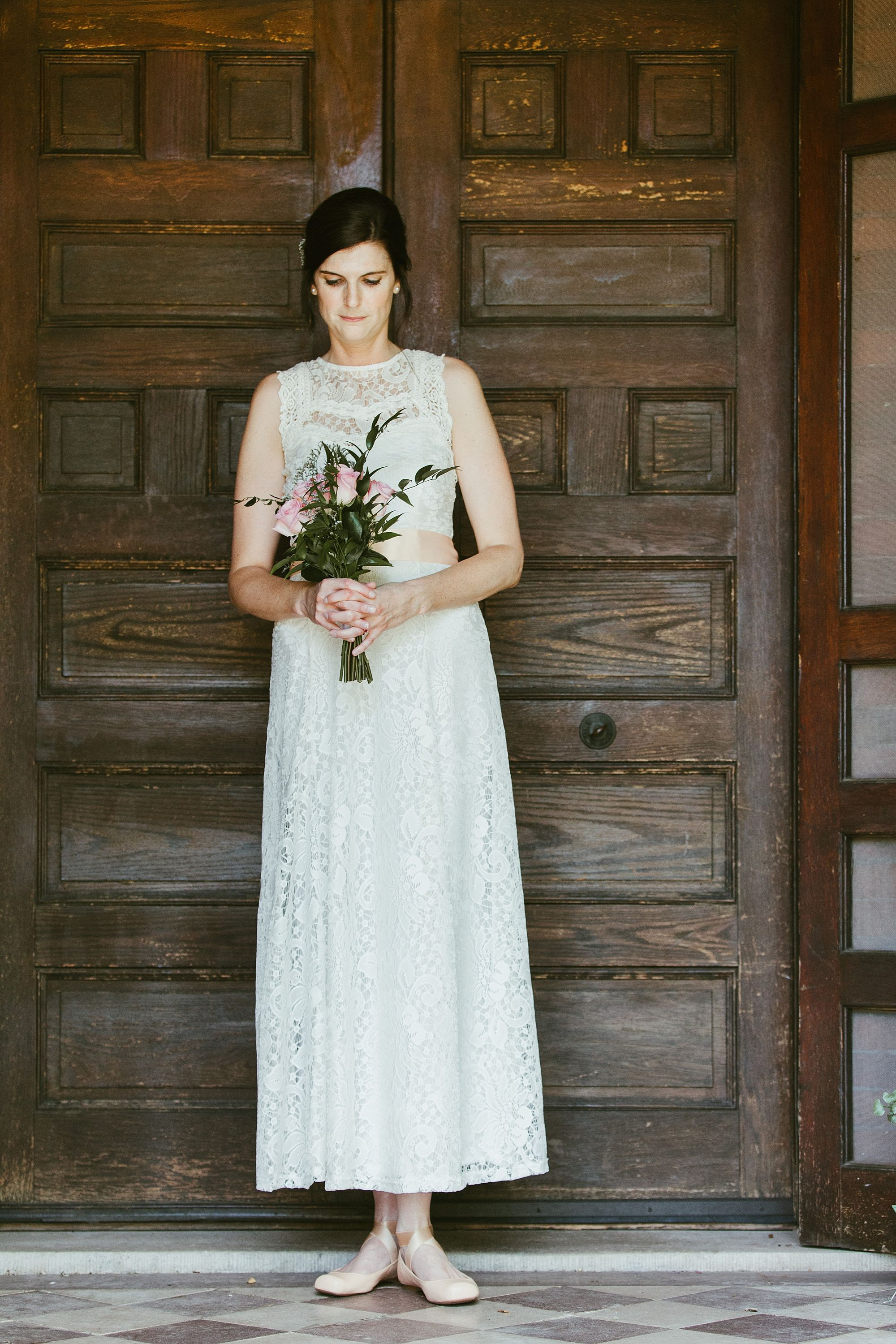 An In Town Elopement from Simply Stated | Simple lace wedding dress ...