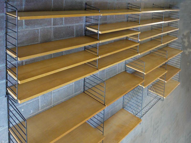 50u0027s Storage Shelves STRING Bookshelf System BOKHYLLAN by Nisse Strinning Sweden | Pinterest | Storage shelves Shelves and Storage & 50u0027s Storage Shelves STRING Bookshelf System BOKHYLLAN by Nisse ...