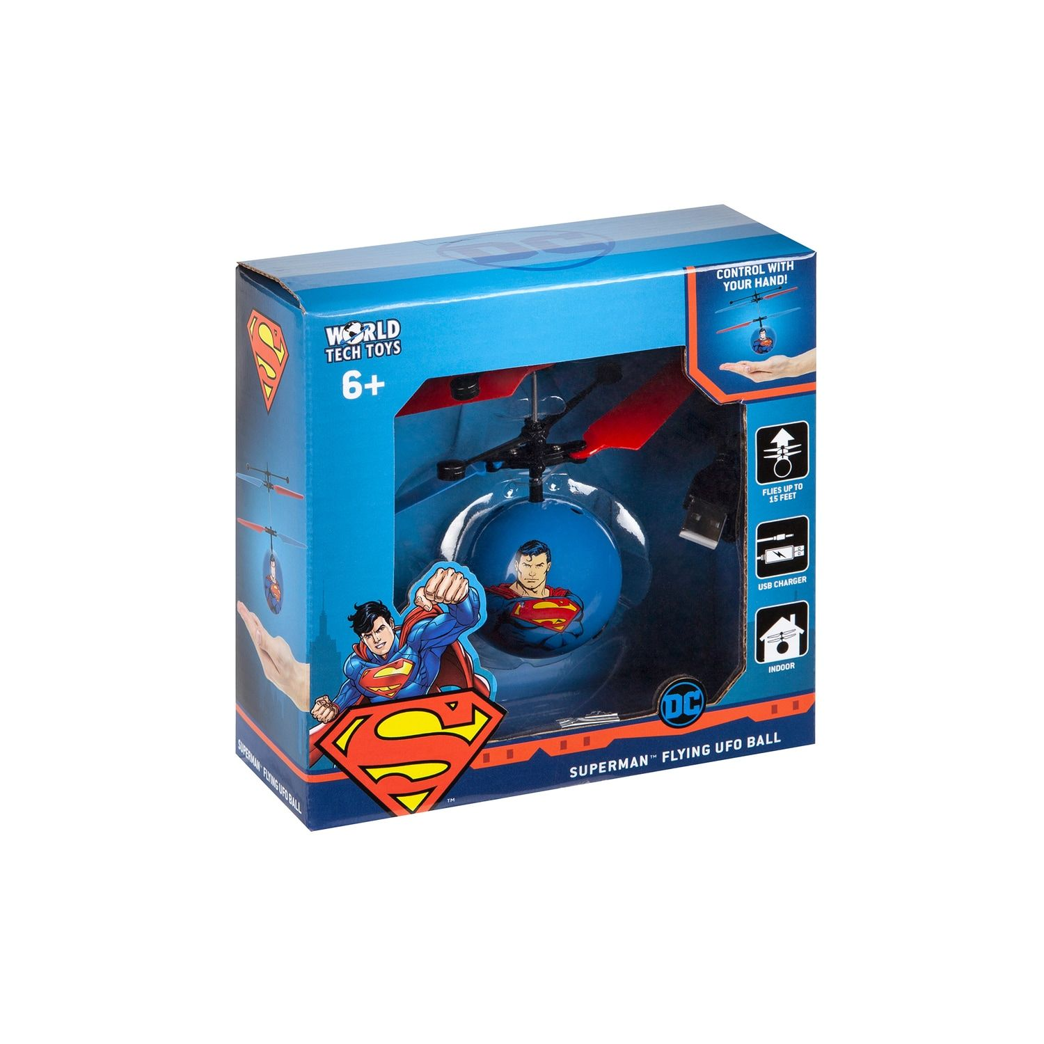 World Tech Toys Justice League Superman Heli-Ball #techtoys