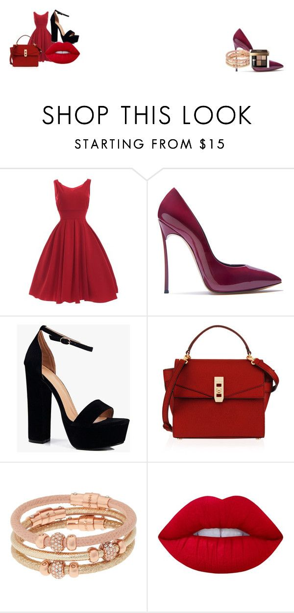 """""""Untitled #1"""" by sydneyoo on Polyvore featuring Casadei, Boohoo, Henri Bendel, Lime Crime and Bobbi Brown Cosmetics"""