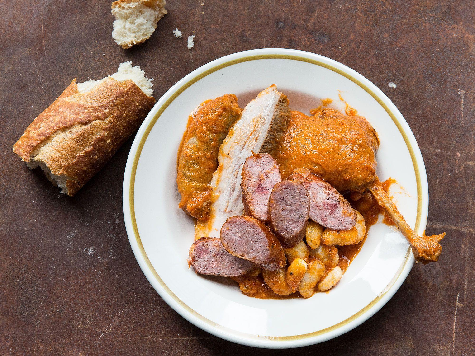 Dominique Ansel's Cassoulet | Confit duck leg, Pork belly ...
