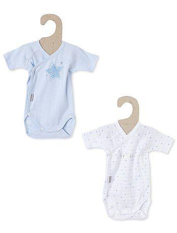 Lot de 2 bodies coton  Absorba  bleu blanc Bébé garçon - Kiabi ... b0b73324963