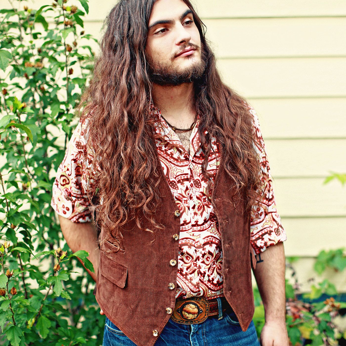 1970s Hippie Fashion | ... men's vest // button up ...