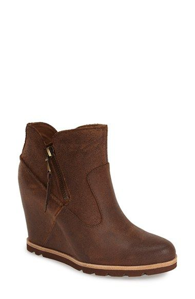 UGG® Australia 'Myrna' Wedge Ankle Bootie (Women) available at #Nordstrom