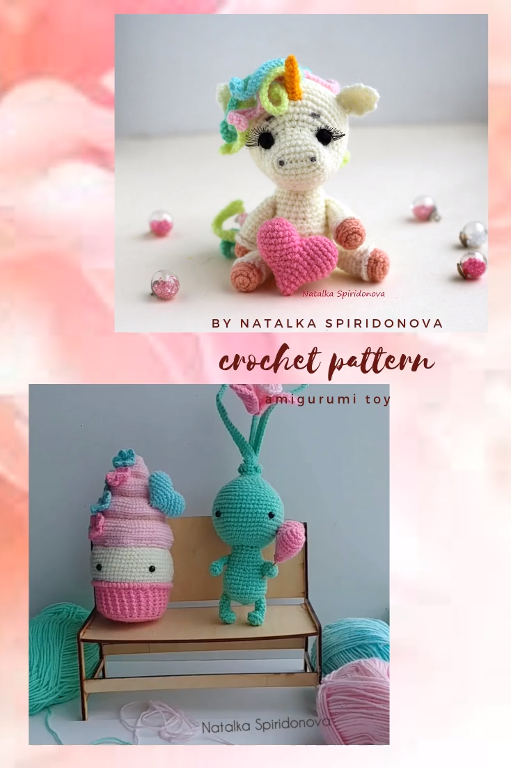 Photo of Crochet Unicorn Pattern, Amigurumi Unicorn pattern, Animal Amigurumi, Instant PDF Download